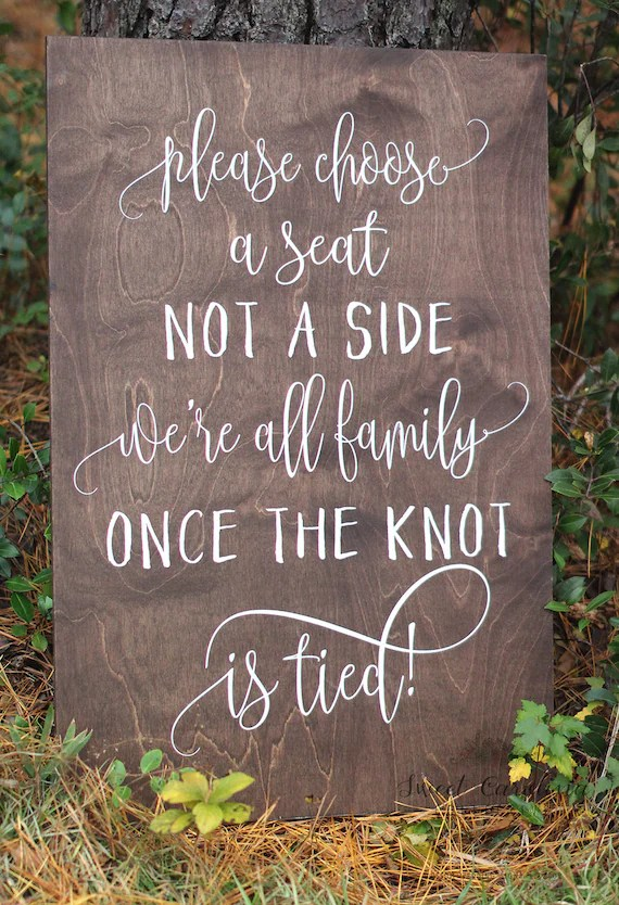no seating chart at wedding - Kenicandlecomfortzone