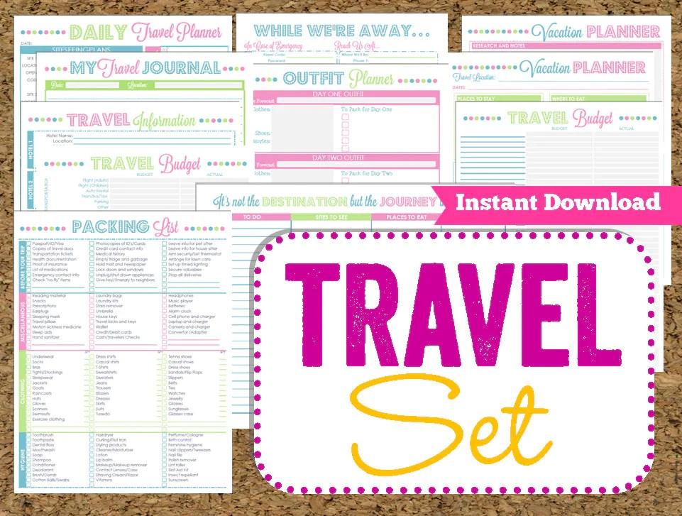printable travel planner - Acurlunamedia