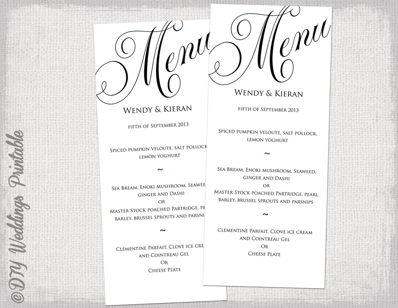 wedding menu templates - Goalgoodwinmetals