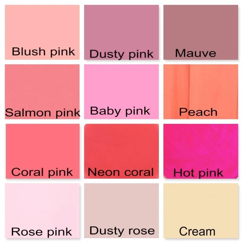 pink color chart - Denmarimpulsar