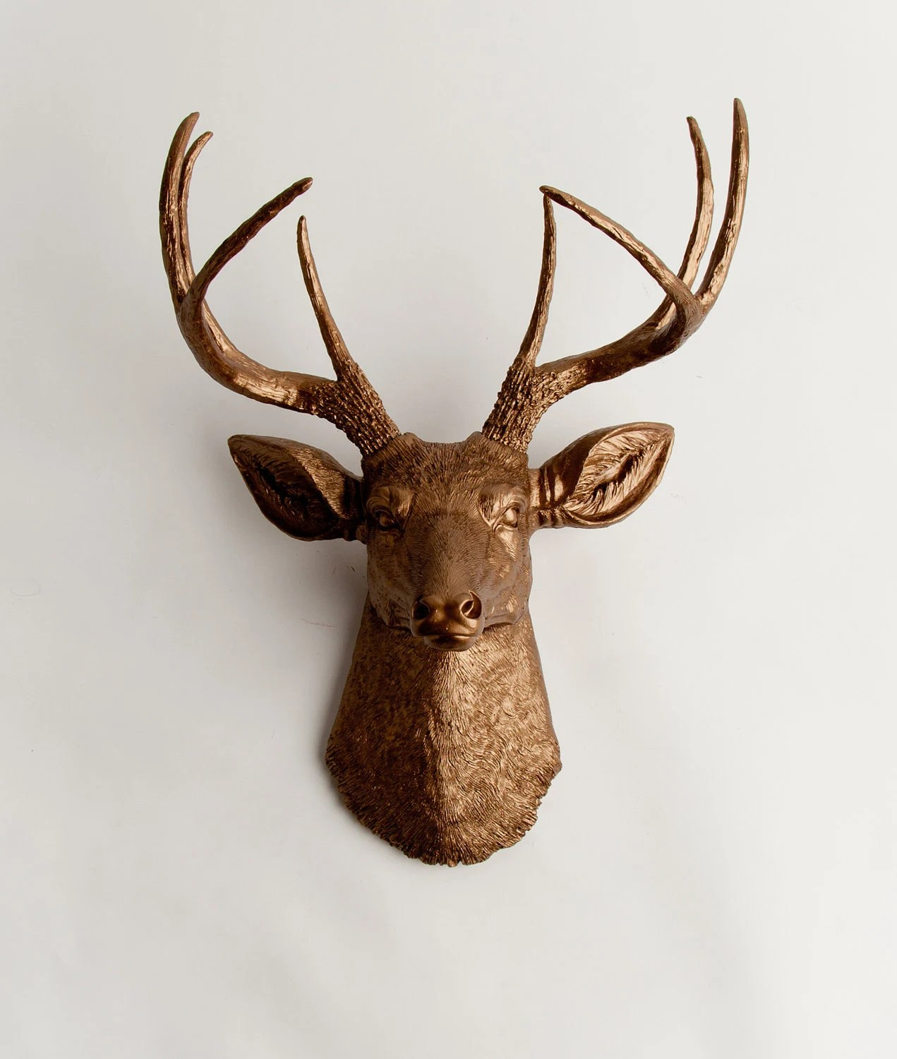 Fake Taxidermy Deer Head Faux Taxidermy Deer Head The Bennett Bronze Resin Stag Mount