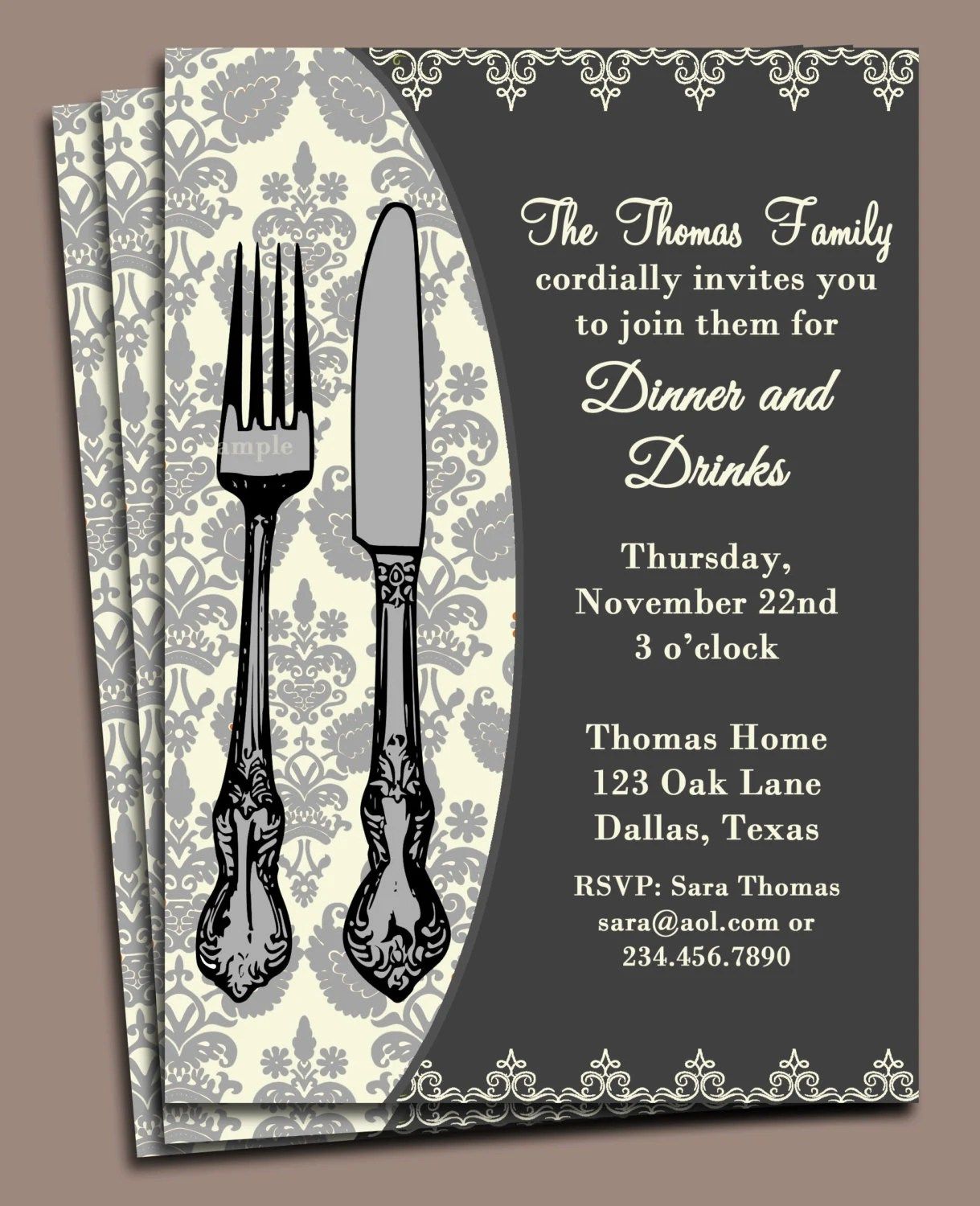 free printable dinner party invitations - Onwebioinnovate - Free Printable Dinner Party Invitations