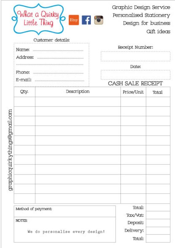 sale receipt book - Alannoscrapleftbehind - cash sales receipt