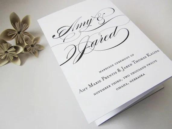 folding wedding programs - Selol-ink