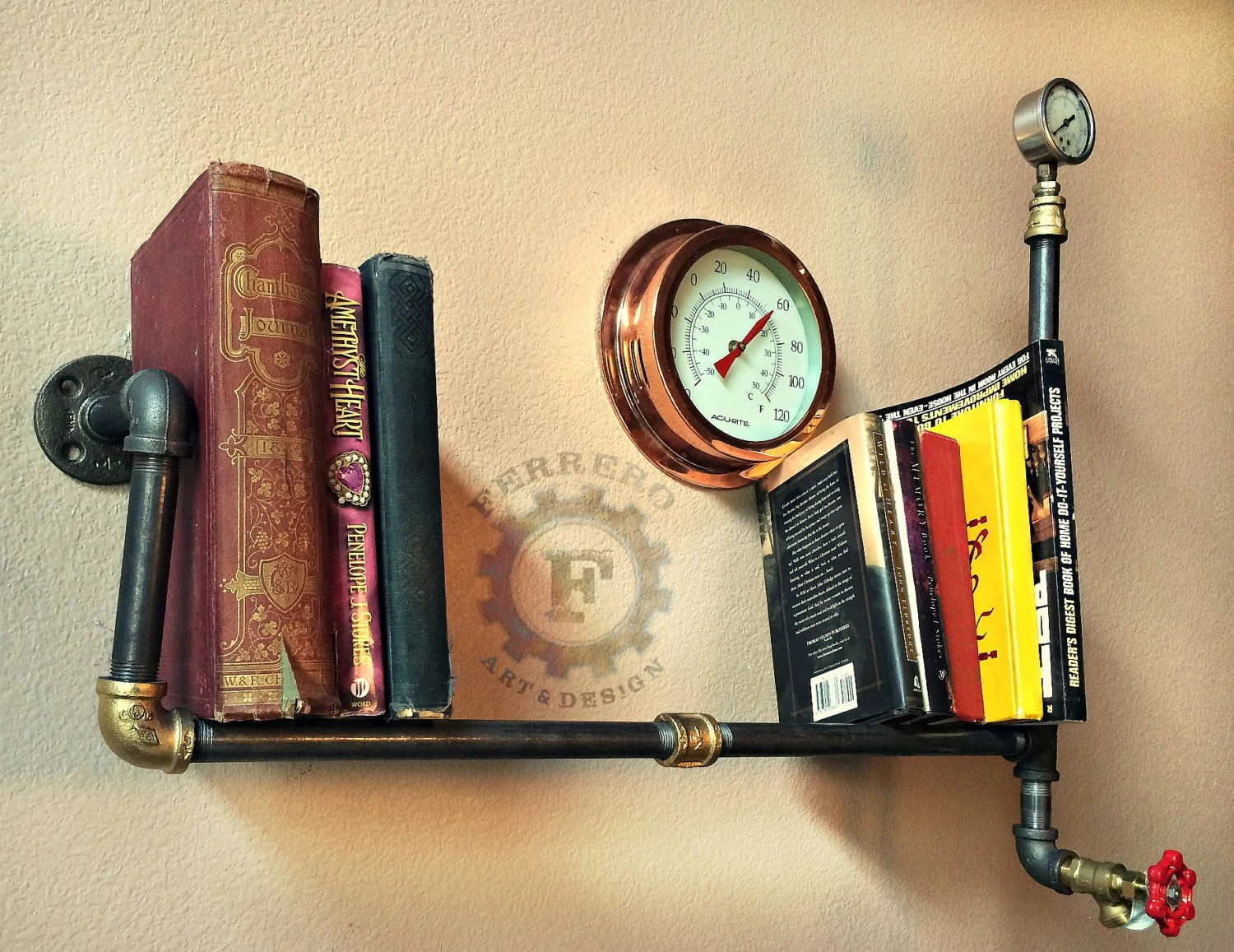 Steampunk Wall Shelves Wall Shelf Wall Decor Steampunk Shelf Industrial Decor