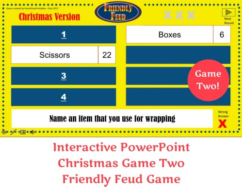 Engaging Friendly Feud Game Two Family Interactive Family Feud Name A Game You Might Play Your Living Room Family Feud Questions 2017 Family Feud Faceoff