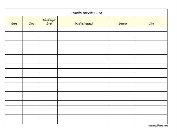 blank medication list