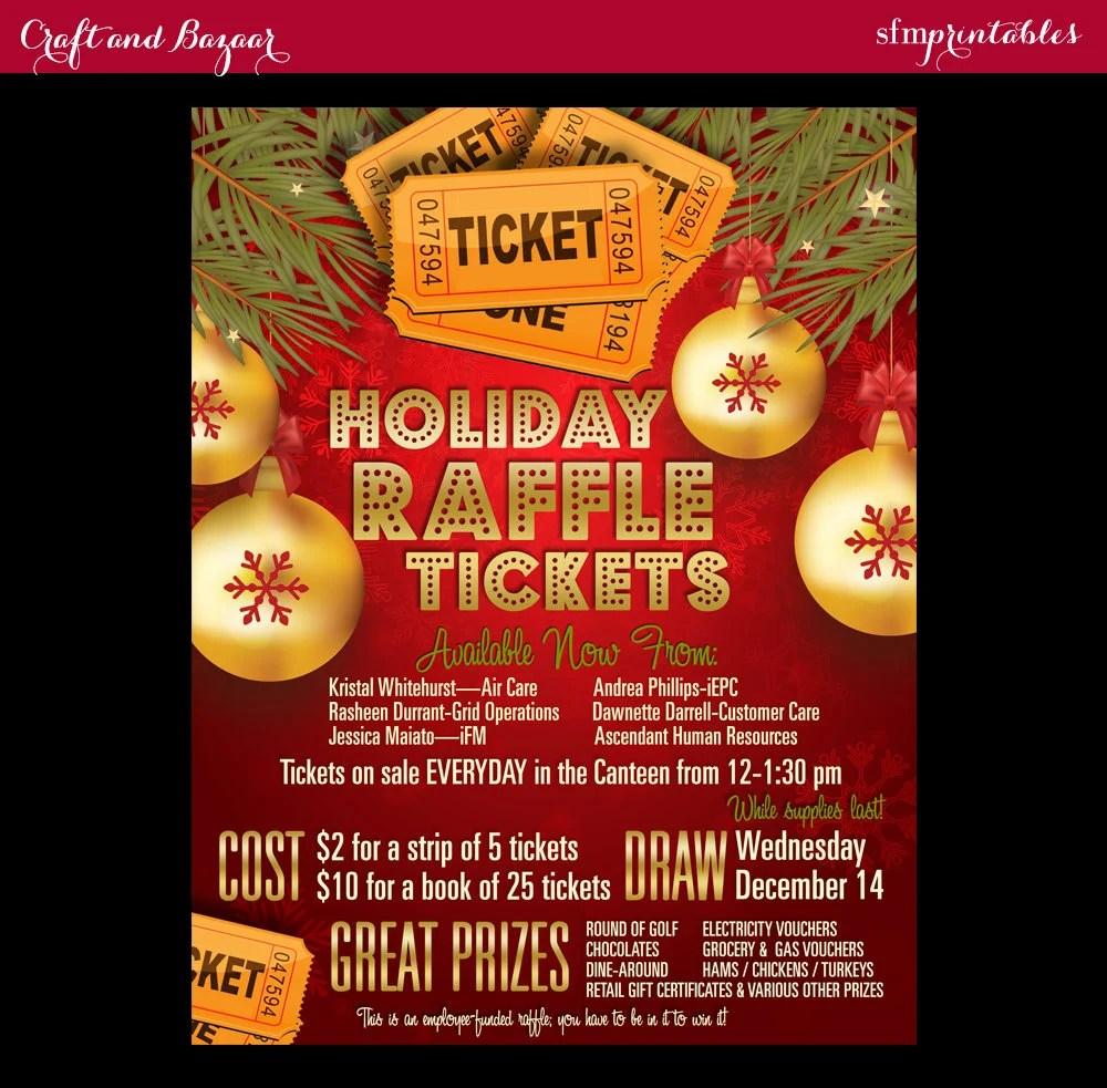 christmas raffle poster templates - Baskanidai