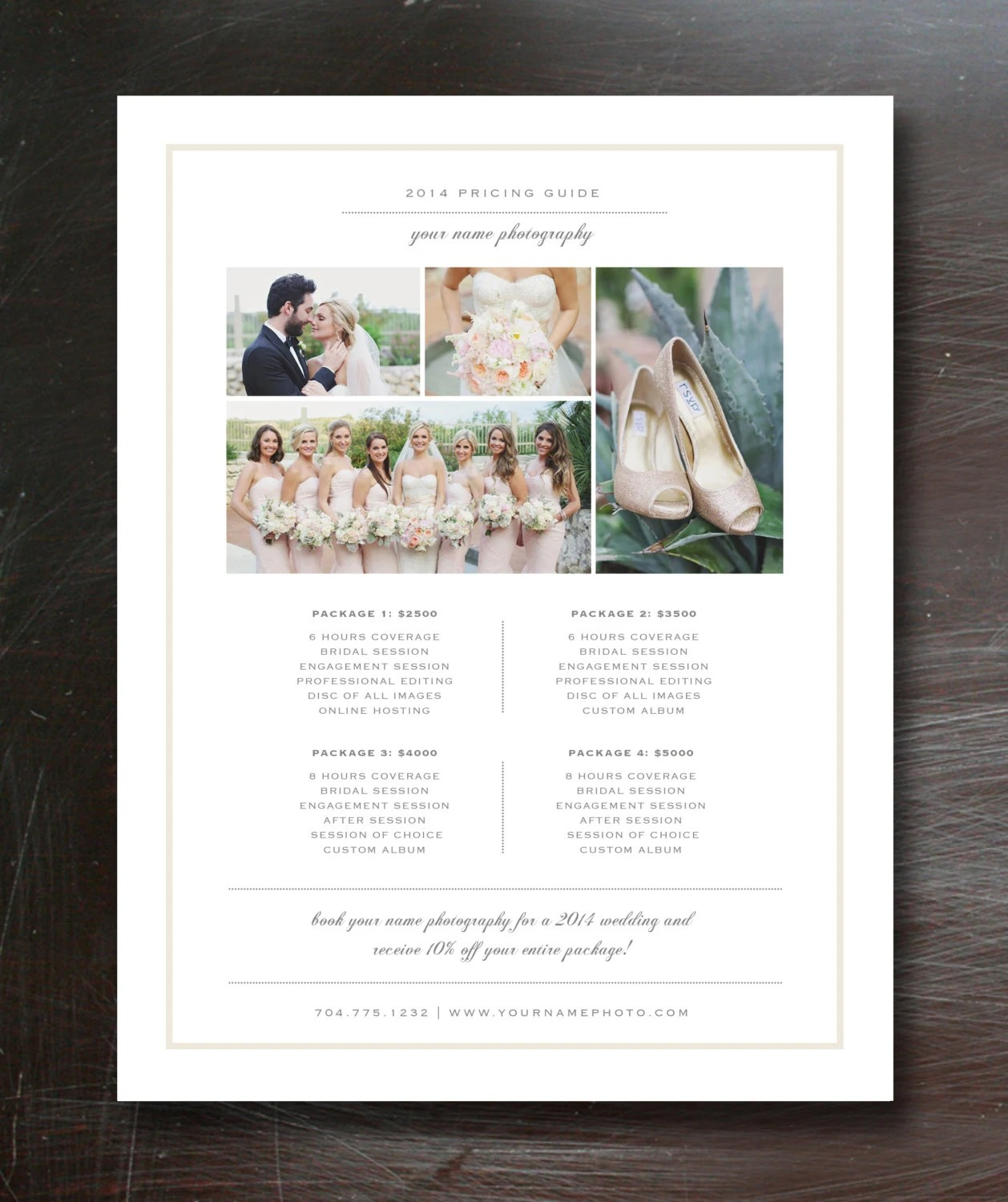 wedding pricing flyer - Antaexpocoaching