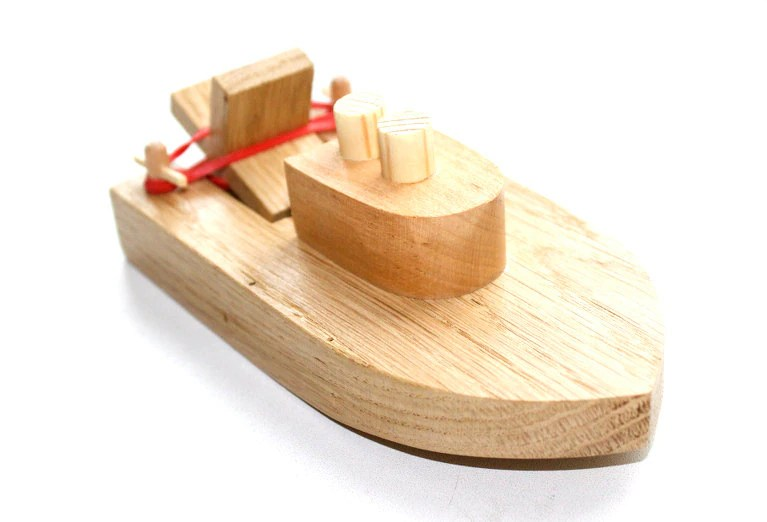 Wooden Toy Boat Kids Wood Bath Toy Ready To Ship
