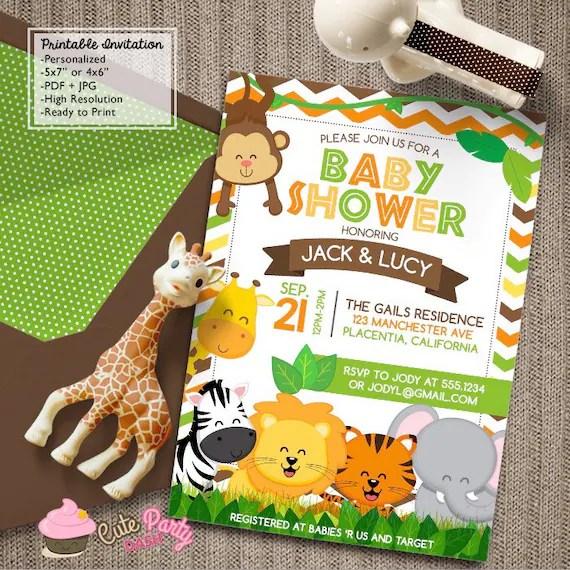 safari themed birthday invitations