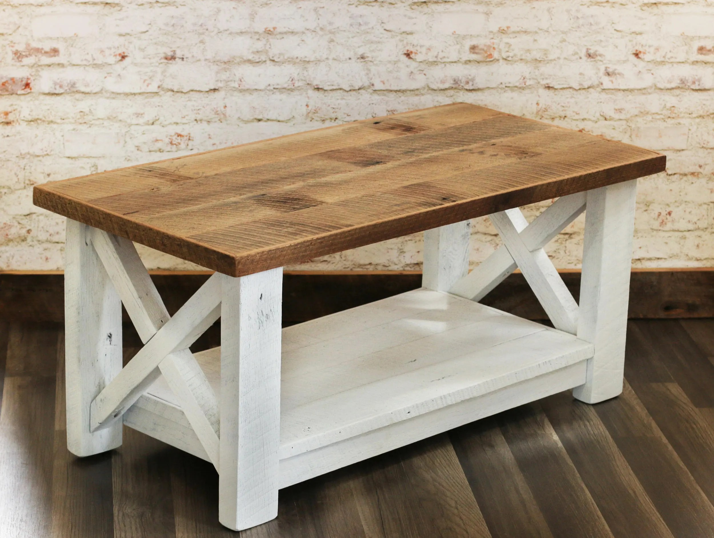 Farmhouse Coffee Table Etsy Farmhouse Coffee Table Made From Reclaimed Wood X Detail