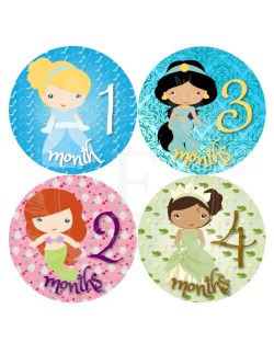 Rummy Princess Month Stickers Baby Girl Monthly Stickers Baby Month Months Stickers Baby Girl Princess Stickers Princess Month Stickers Baby Girl Monthly Stickers Baby Month