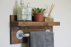 Sweet Small Rustic Industrial Towel Bathroom Rustic Home Rustic Wooden Industrial Towel Rack Small Rustic Industrial Towel Bathroom Rustic Home Industrial Bathroom Shelf Industrial Bathroom Shelving