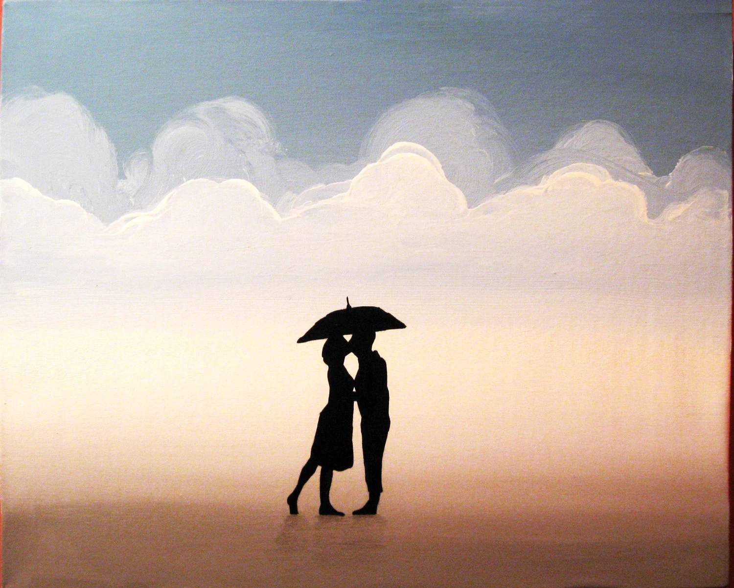 Silhouette Paintings Of People Beach Decor Silhouette Art A Romance Lost And Found