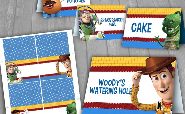 Toy Story Table Tent Instant Download Food Tent Cards Toy