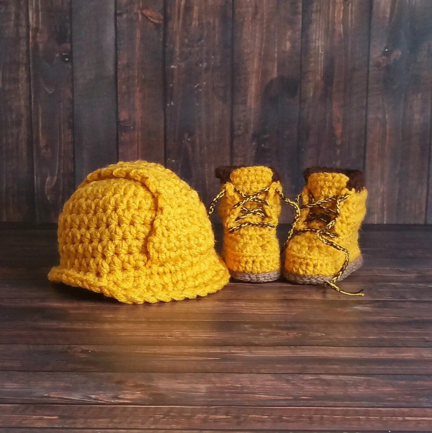 Baby Construction Boots And Hard Hat Set Baby Boy Work Shoes