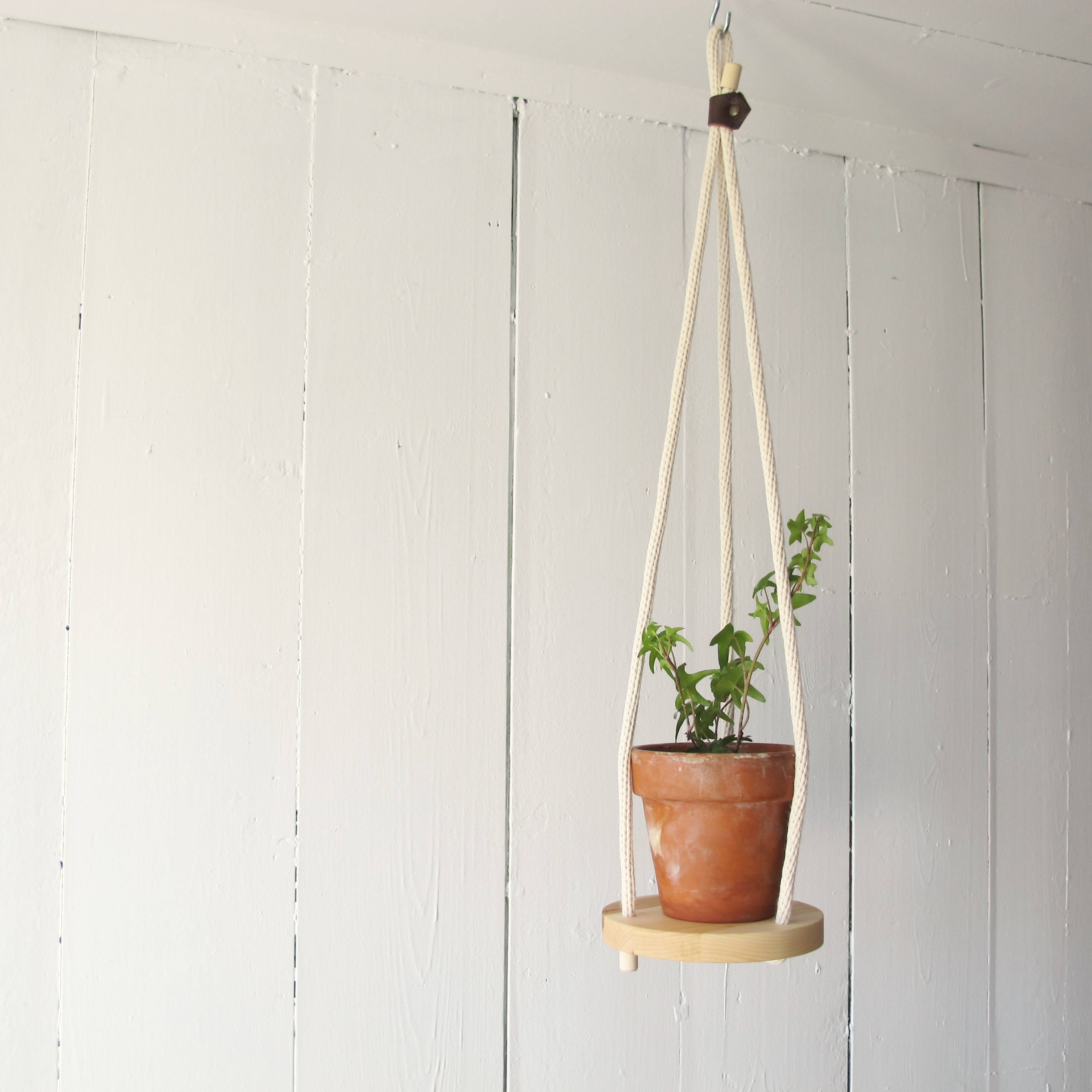 Hanging Planters Australia Wood And Cotton Hanging Planter Solo 6 39 39 Hanging Shelf