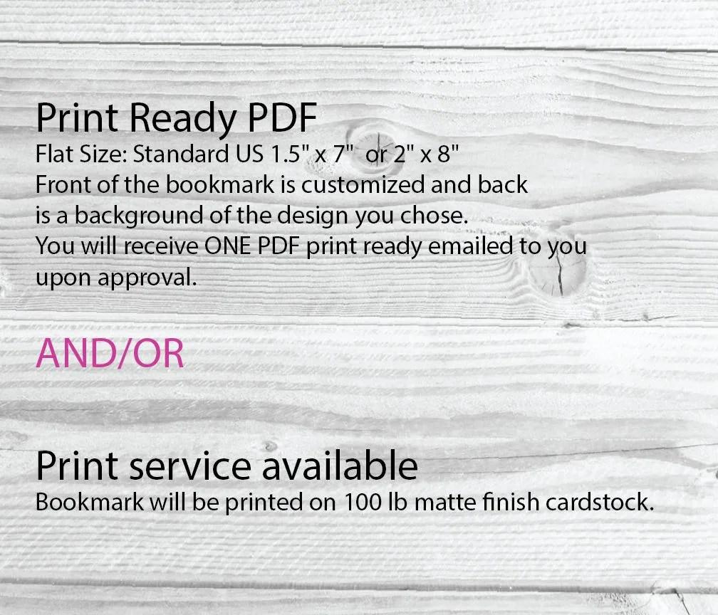 standard bookmark size - Kordurmoorddiner
