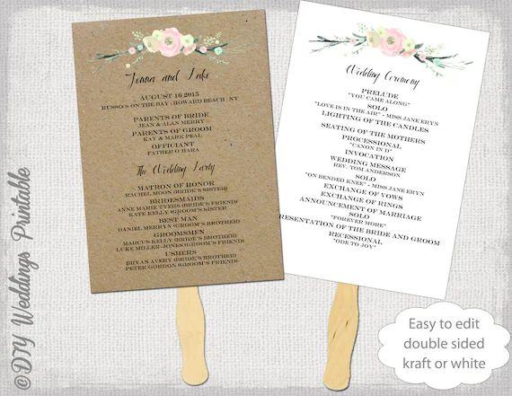 wedding ceremony programs template
