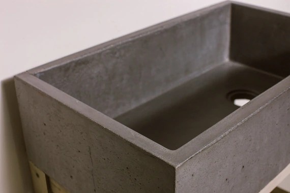 Concrete Farmhouse Kitchen Sink Basin