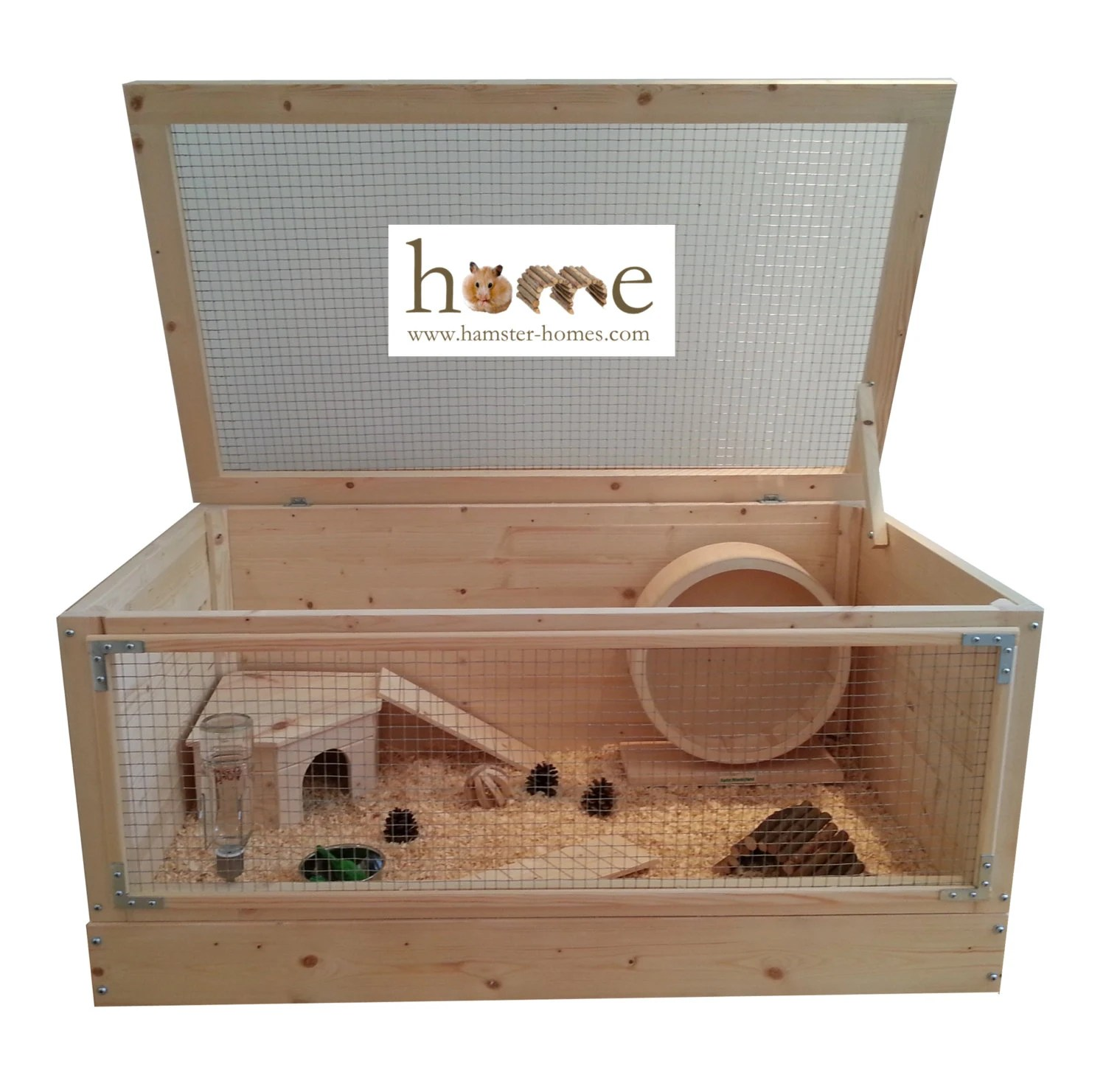 Caviakooi Verdieping Extra Large Wooden Hamster Cage 90x50cm