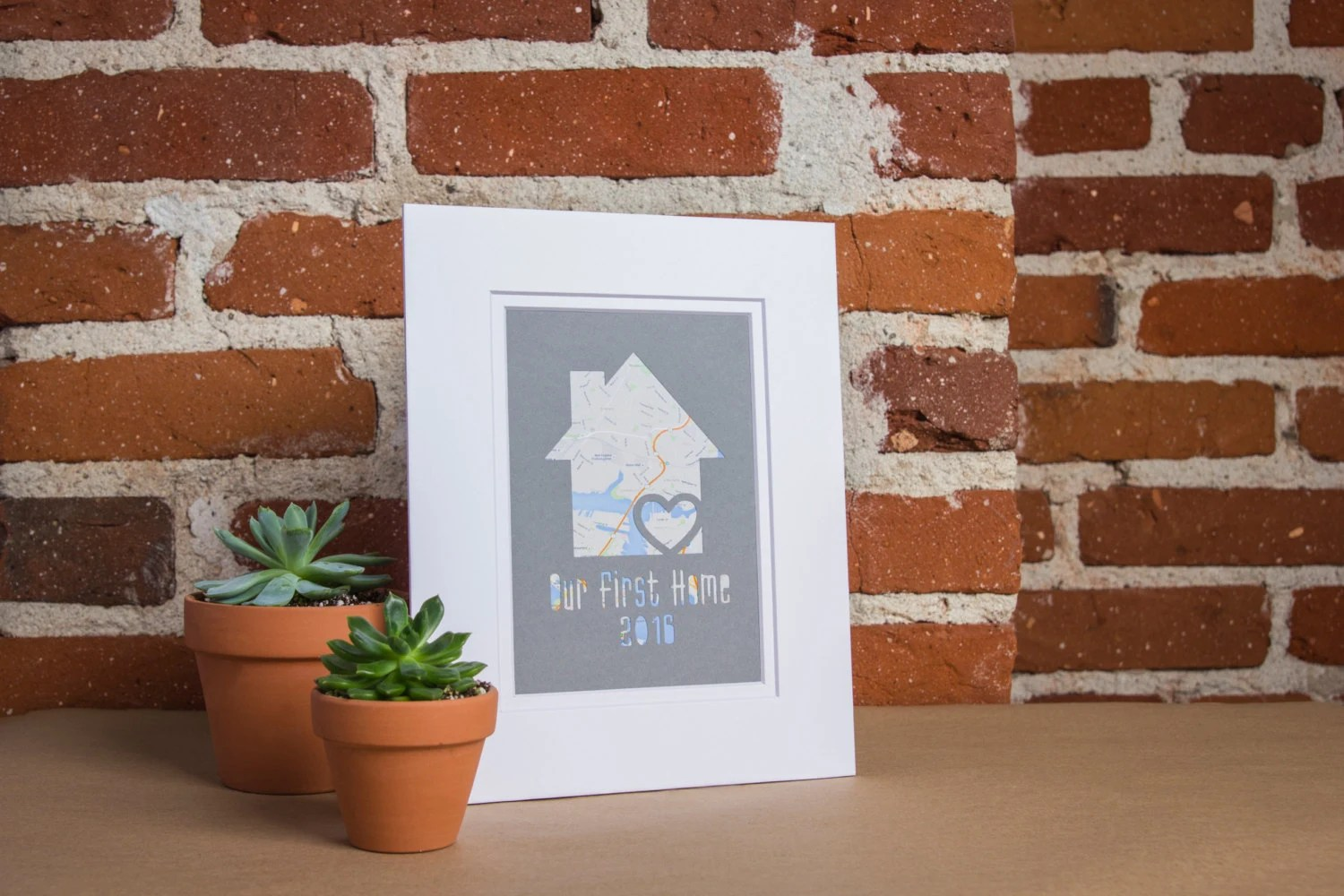 Einweihungsgeschenk Ideen Our First Home Personalized Home Map Matted Gift First Home