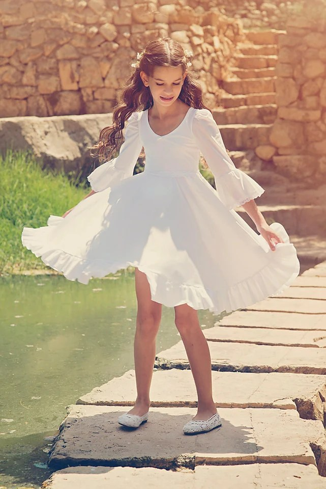 First Communion Dress Girls and Toddlers Wedding Dress