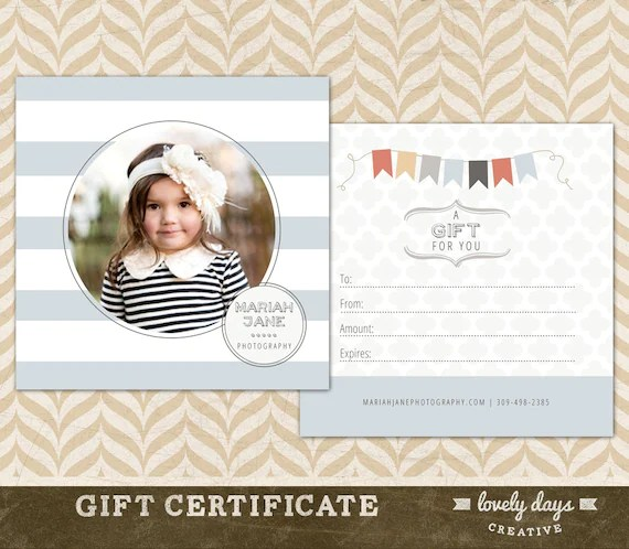 gift certificate template photography - Kenicandlecomfortzone