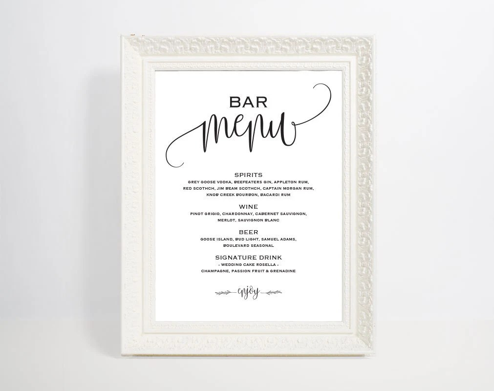 bar menu template - Funfpandroid