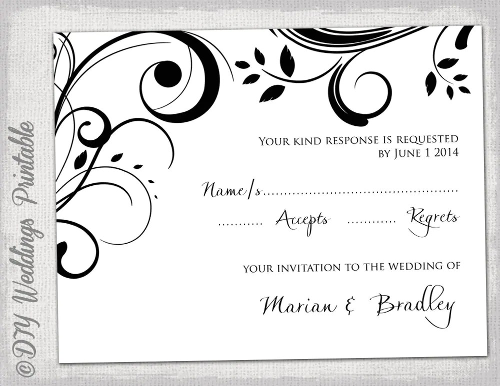 wedding rsvp template word - Maggilocustdesign