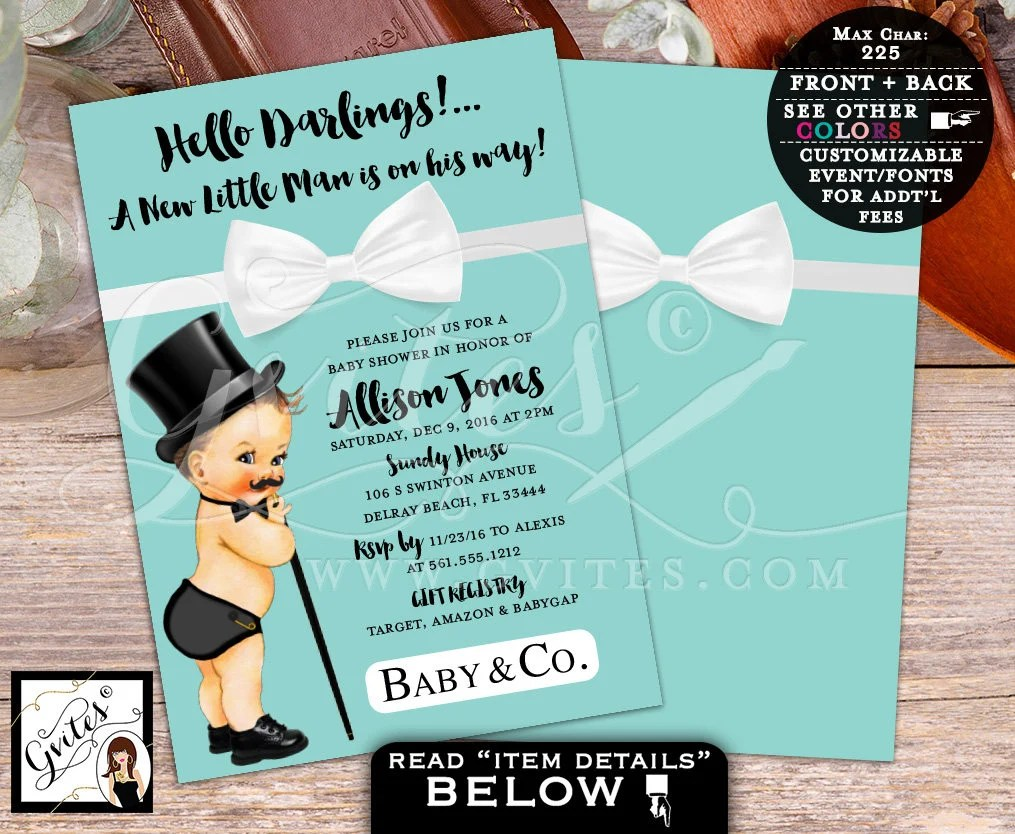 Fullsize Of Little Man Baby Shower