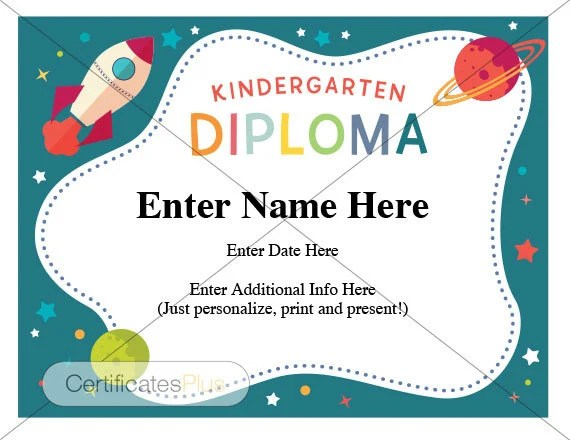 kindergarten diplomas - Goalgoodwinmetals