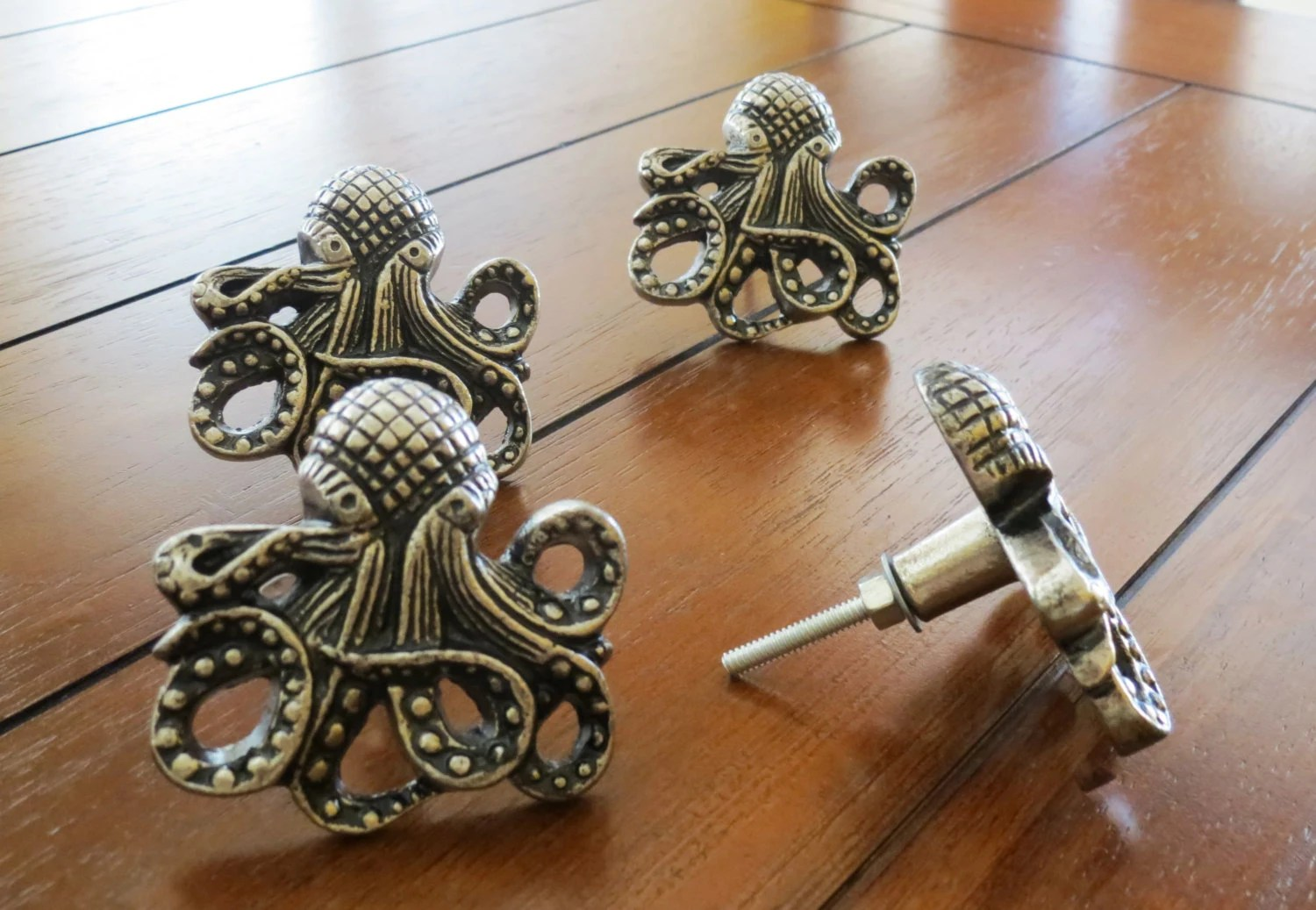Octopus Door Handle Octopus Shaped Knobs Extra Large Drawer Dresser Knobs