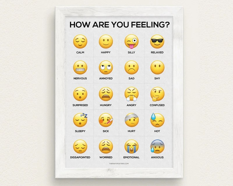 feelings chart poster - Klisethegreaterchurch - Feeling Chart