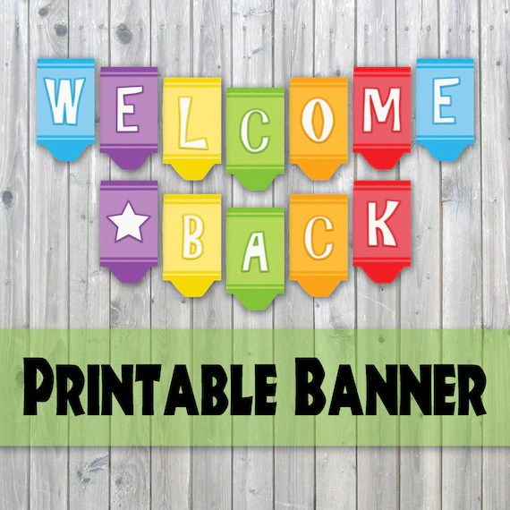 welcome back printable sign - Muckgreenidesign