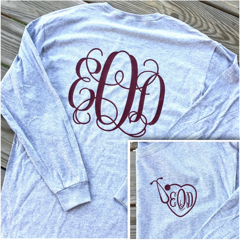 vine monogrammed shirt back long sleeve shirt vine monogram