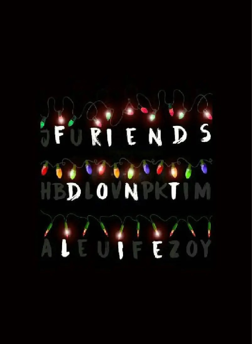 Cute Designs Full Page Wallpapers Stranger Things Friends Don T Lie Christmas 2017 Metal