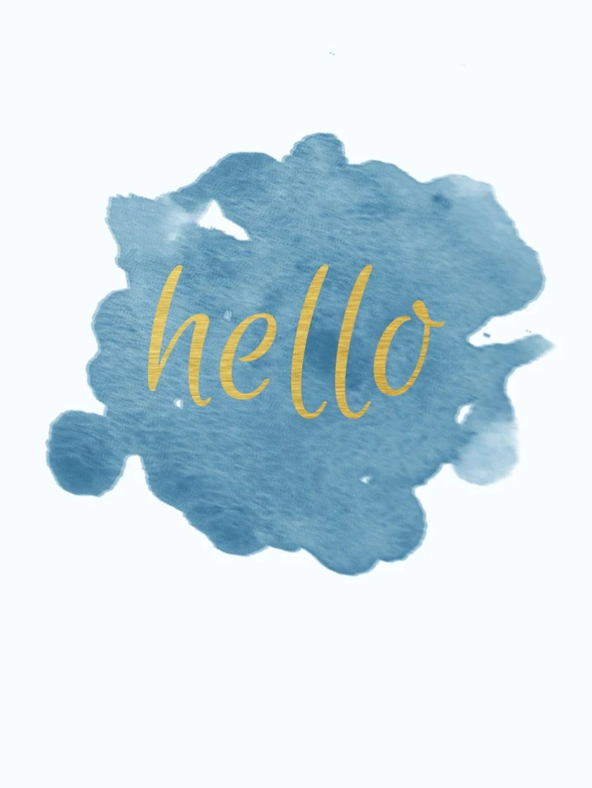 hello adele gold teal watercolor abstract iphone 6