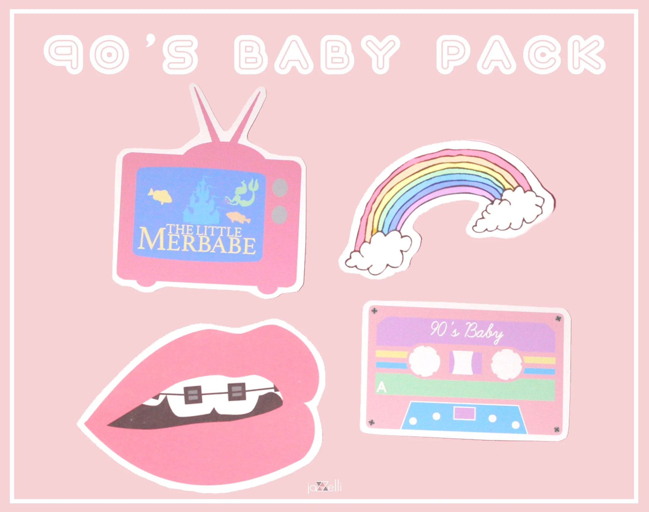 Tumblr Sticker Pastel Tumblr Sticker Pack 21 Stickers Cute Pastel Internet Art