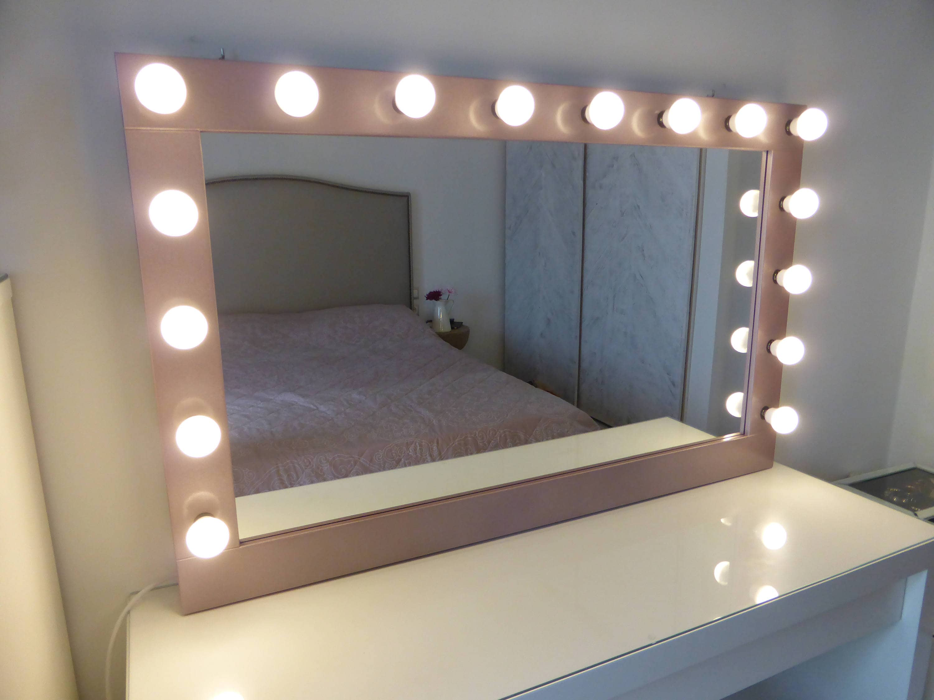 Hollywood Mirror Lights Ikea Xl Hollywood Mirror 43 39 39 X 27 39 39 Rose Gold