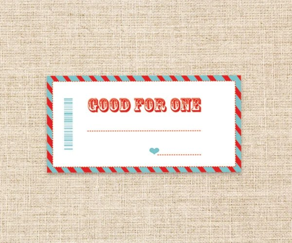 coupon gifts - Funfpandroid - payment coupon book template