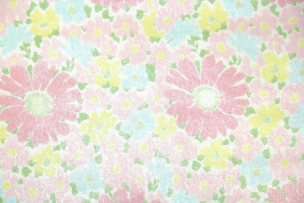 Retro Wallpaper by the Yard 70s Vintage Wallpaper 1970s Pink