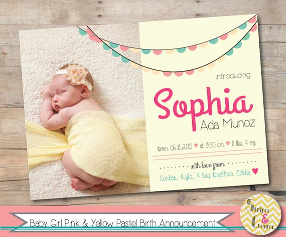 newborn baby announcement cards - Trisamoorddiner