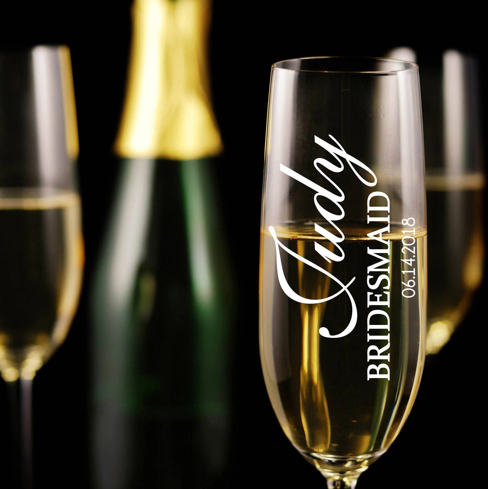 Fullsize Of Personalized Champagne Flutes