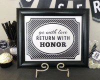 LDS Missionary Decoration Printable: Farewell Party Sign Go