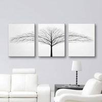 Tree of Life Wall Art Black and white Art Canvas Art Set 3