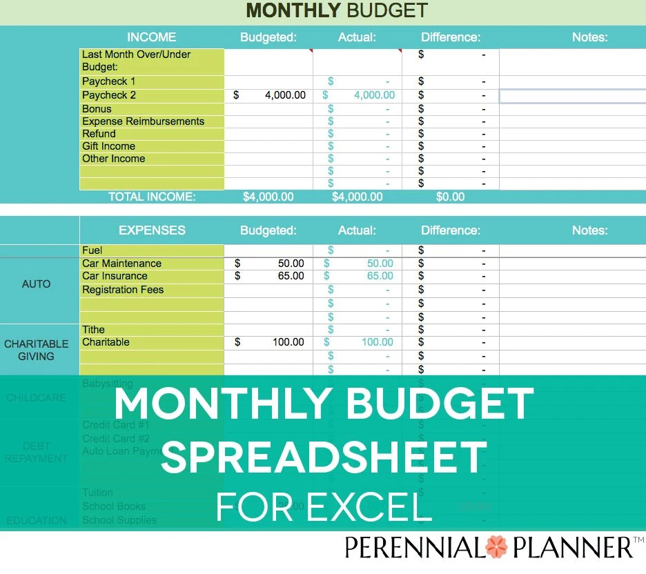 monthly expense calculator excel - Onwebioinnovate - monthly bill calculator