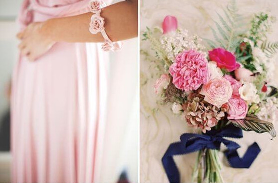 12 Perfect Combinations for Color Schemes for Fall Weddings - pink wedding photo