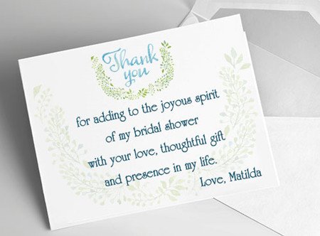 Etiquette and Samples Bridal Shower Gratitude Notes - EverAfterGuide